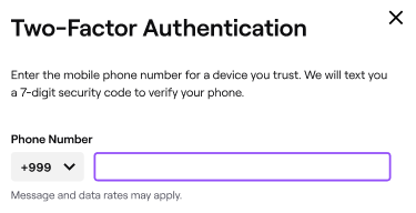 This phone number cannot be used for verification continue