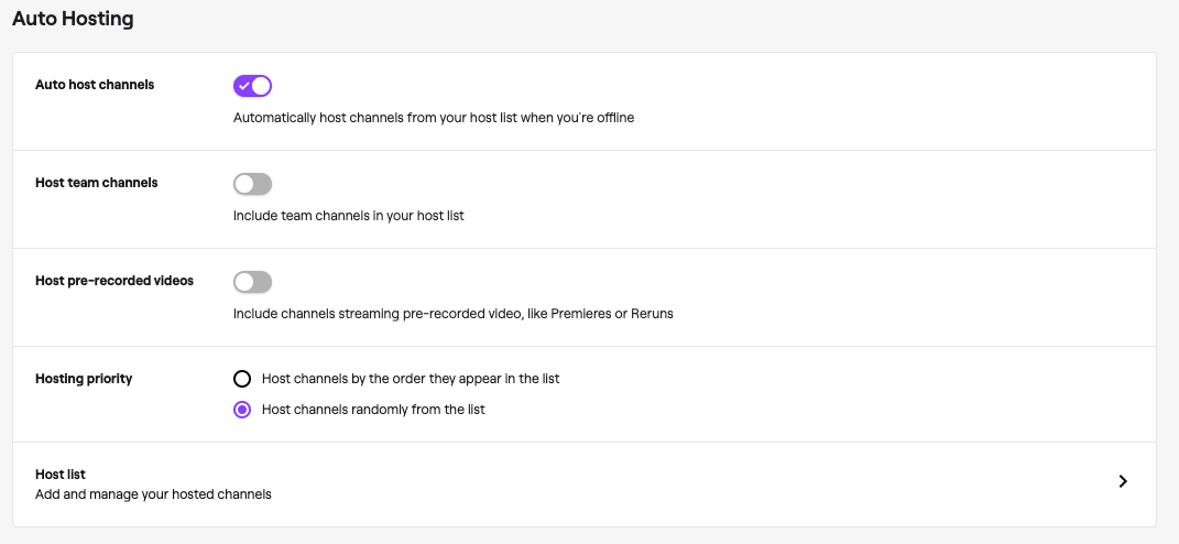 Channel Page Setup