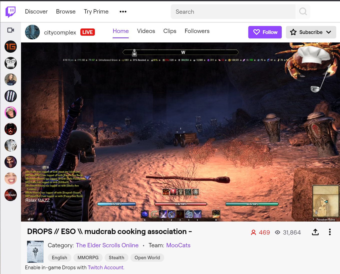 How to remove language filter twitch