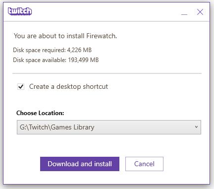 Twitch App's My Games Tab