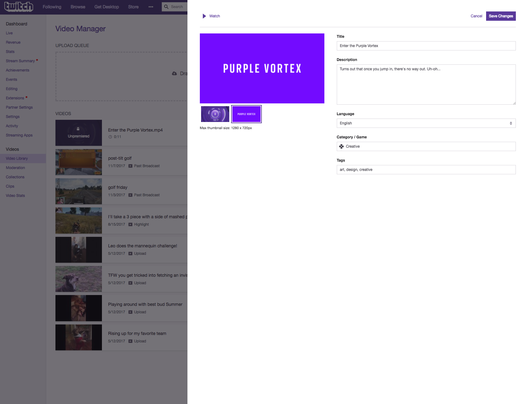 How to Premiere Your Video on Twitch