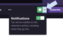 Streamer Notifications Preferences