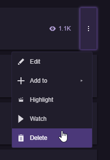 Creating Highlights and Stream Markers