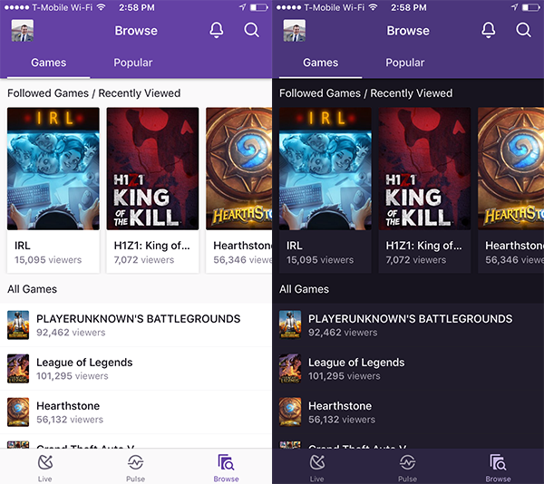 Watching Twitch on iOS Devices