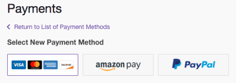 Updating Payment Information & Transaction History